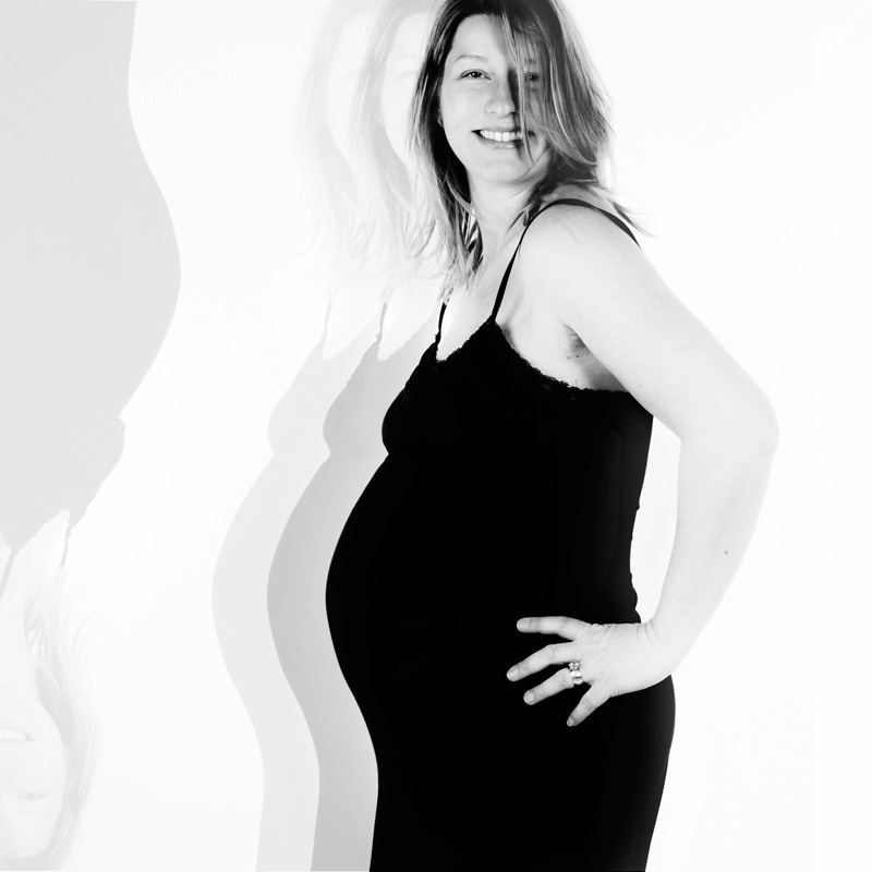 Artistiek zwangere buikfoto