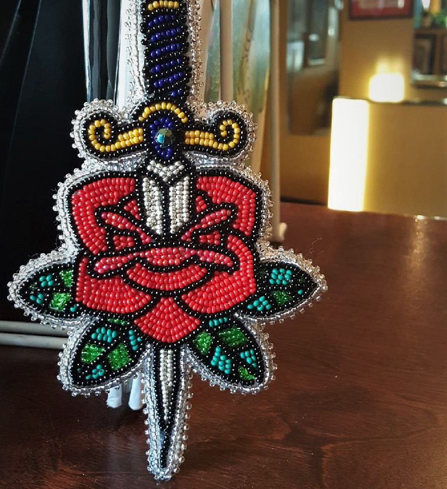 Rose and Dagger Pin