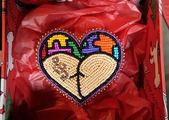 Heart Bum Pin