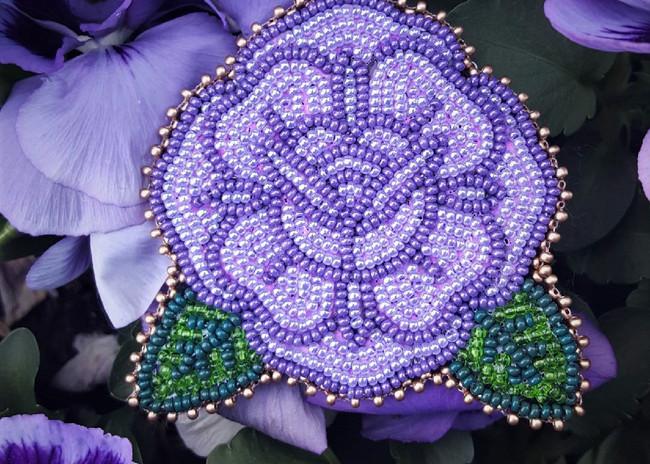 Violet Rose Pin