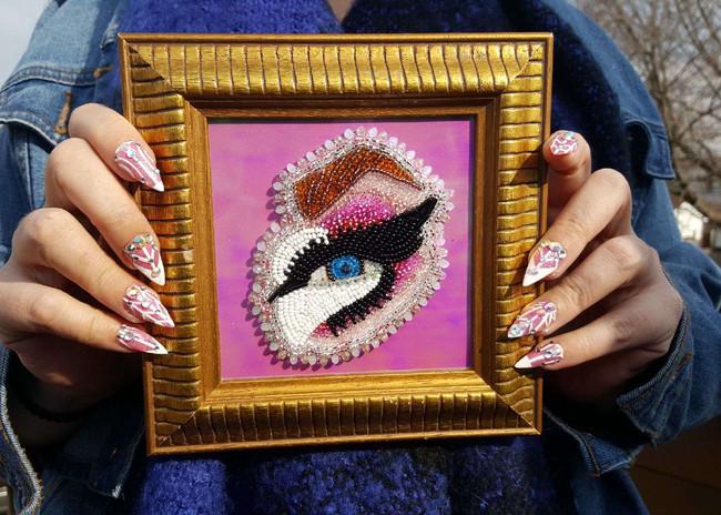 Framed 'Trixie Mattell' Eye