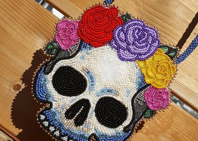 Wreath Skull Medallion