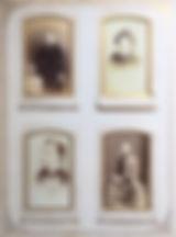 Victorian photo album page