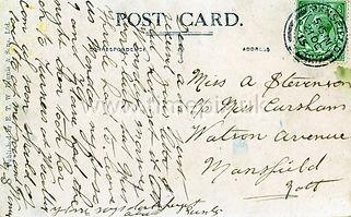 Reverse of Scarborough postcard