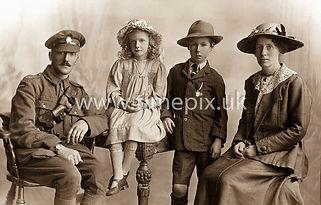 Sombre family portrait