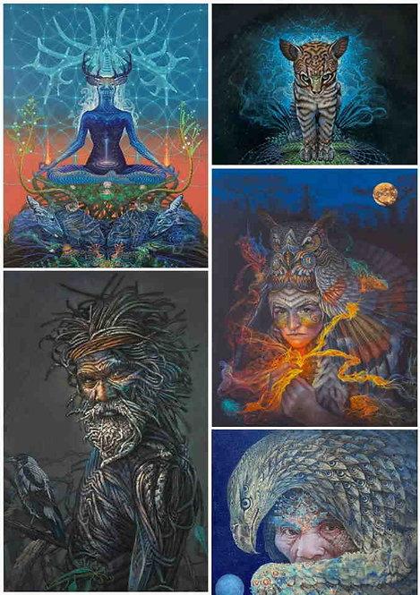 Set of 5 postal Cards - Luis Tamani