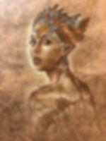 Mujer Aguila, tamani, banana fiber paper