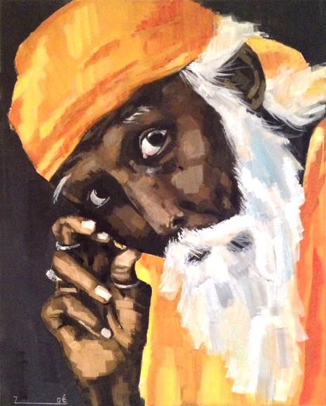 Mann in Orange