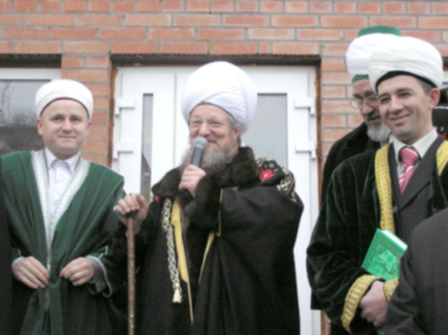 Верховный муфтий на открытии мечети Азан.