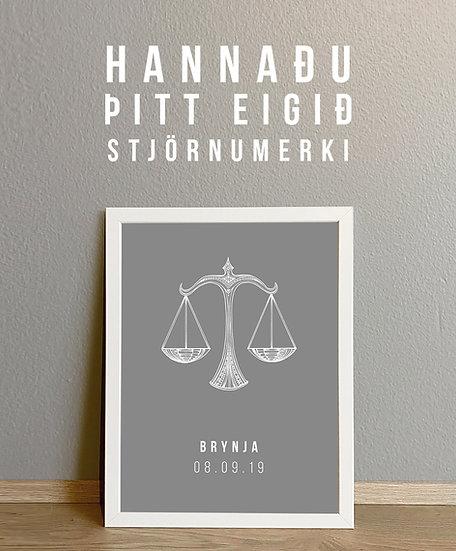 - Hannaðu þitt eigið stjörnumerki -