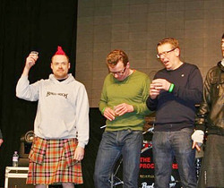 G onstage with The Proclaimers