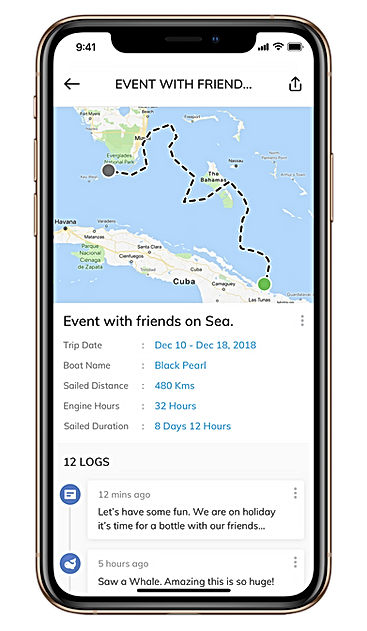 Sailsense boat monitoring logbook