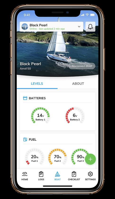 Sailsense boat monitoring battery