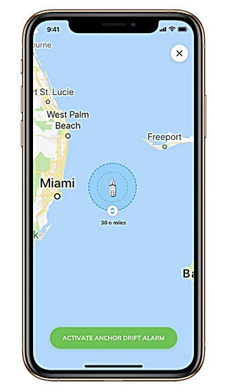 Sailsense boat monitoring anchor drift alert