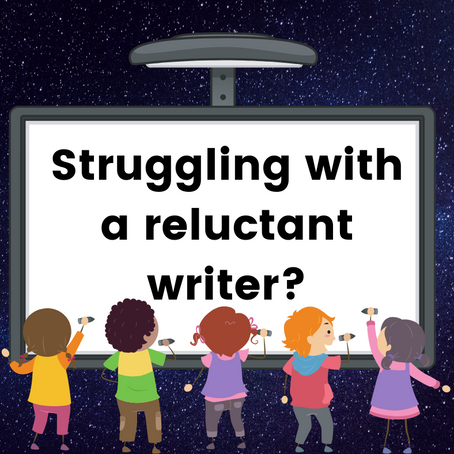 Is your child a reluctant writer?