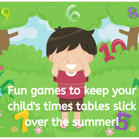 Fun games to keep your child's times tables slick over the summer!