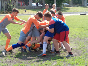 Первая игра с командой «Дарница-Киев»
