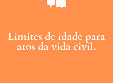 Idosos: Limite de idade para atos da vida civil
