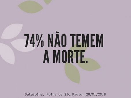 Maioria dos brasileiros não temem a morte.