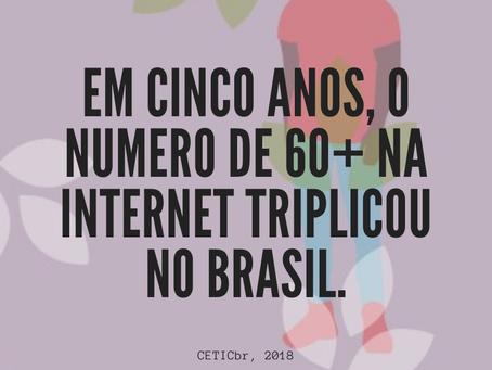 Triplicou o número de idosos conectados na internet
