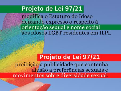 Projetos de lei antagônicos para a comunidade LGBTQI+
