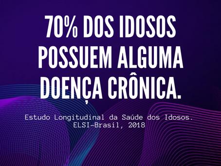 As doenças crônicas atingem 70% dos idosos brasileiros