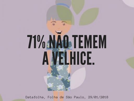 71% dos brasileiros não temem a velhice