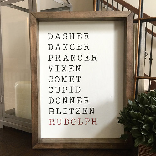 Rescue Resource Connections - Reindeer Names 12x16