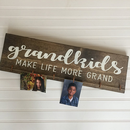 Candle + Grandkids- Picture Holder