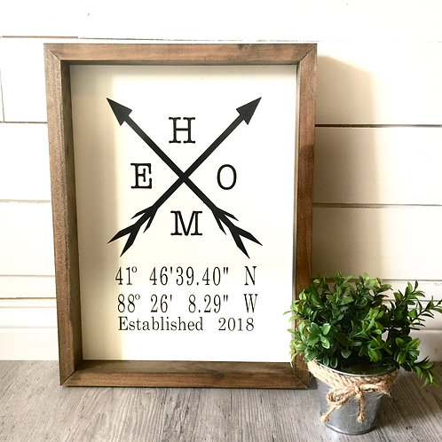 Fundraiser- Home with Arrows-Coordinates 12x16