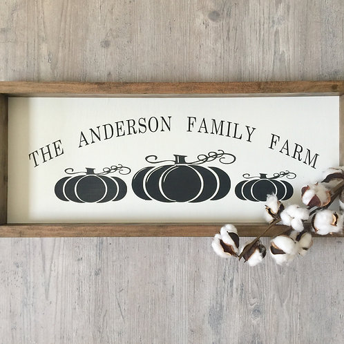 11oz Candle + Family Pumpkin Farm 10x24