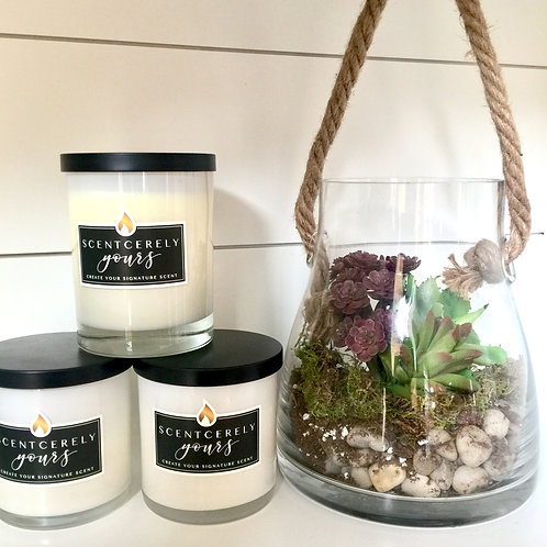 Candle or Lotion + Terrarium