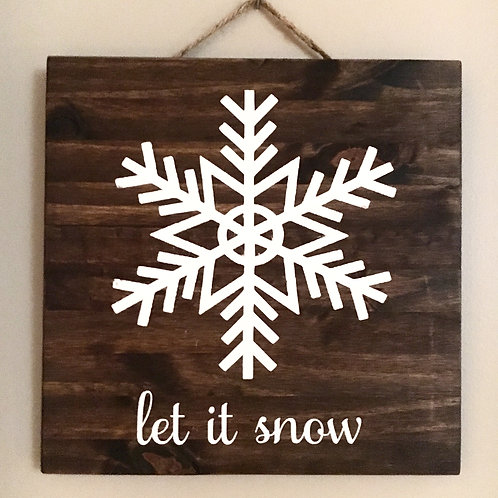 Candle or Lotion + Snowflake-let it snow
