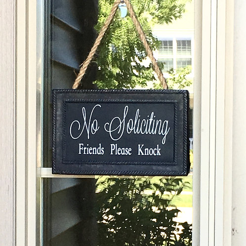 No Soliciting Sign- Friends Please Knock