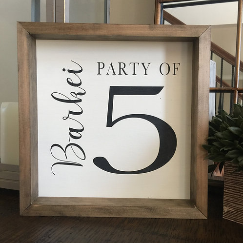 Party of 5 (12x12)