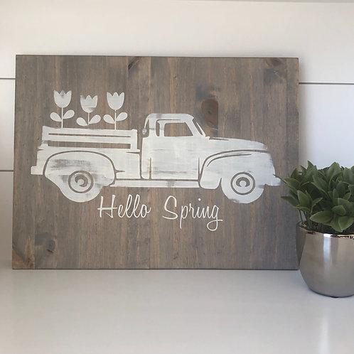 Truck- Hello Spring 12x16