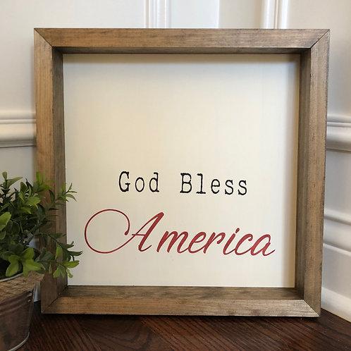 God Bless America 12x12