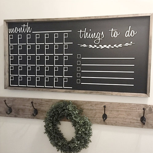 Calendar Chalkboard 24x48
