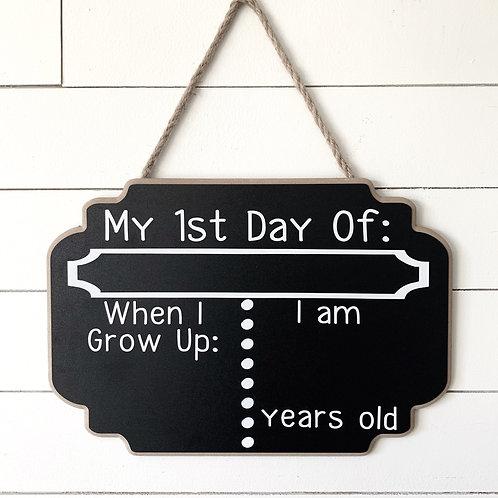 First Day of School Chalkboard 15x11