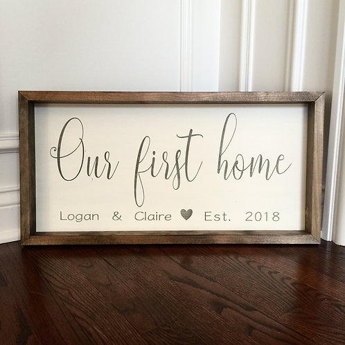 Our First Home (12x24)