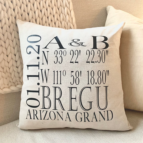 Personalized Wedding Pillow Cover