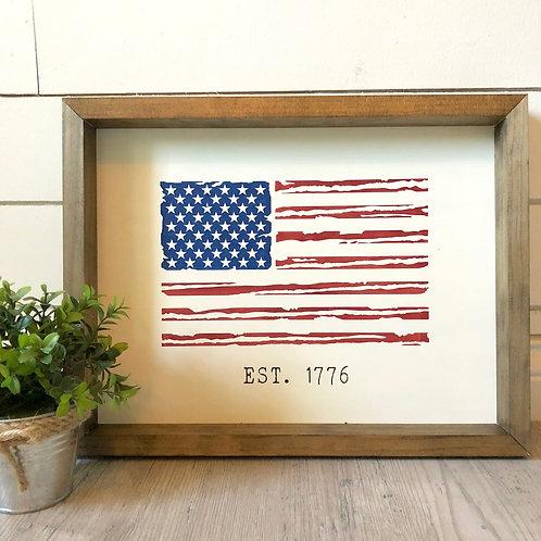 America Est. 1776 12x16