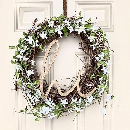 Floral Wreath, Hi Sign