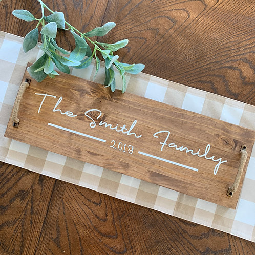 Serving Tray- The _ Family 8x24