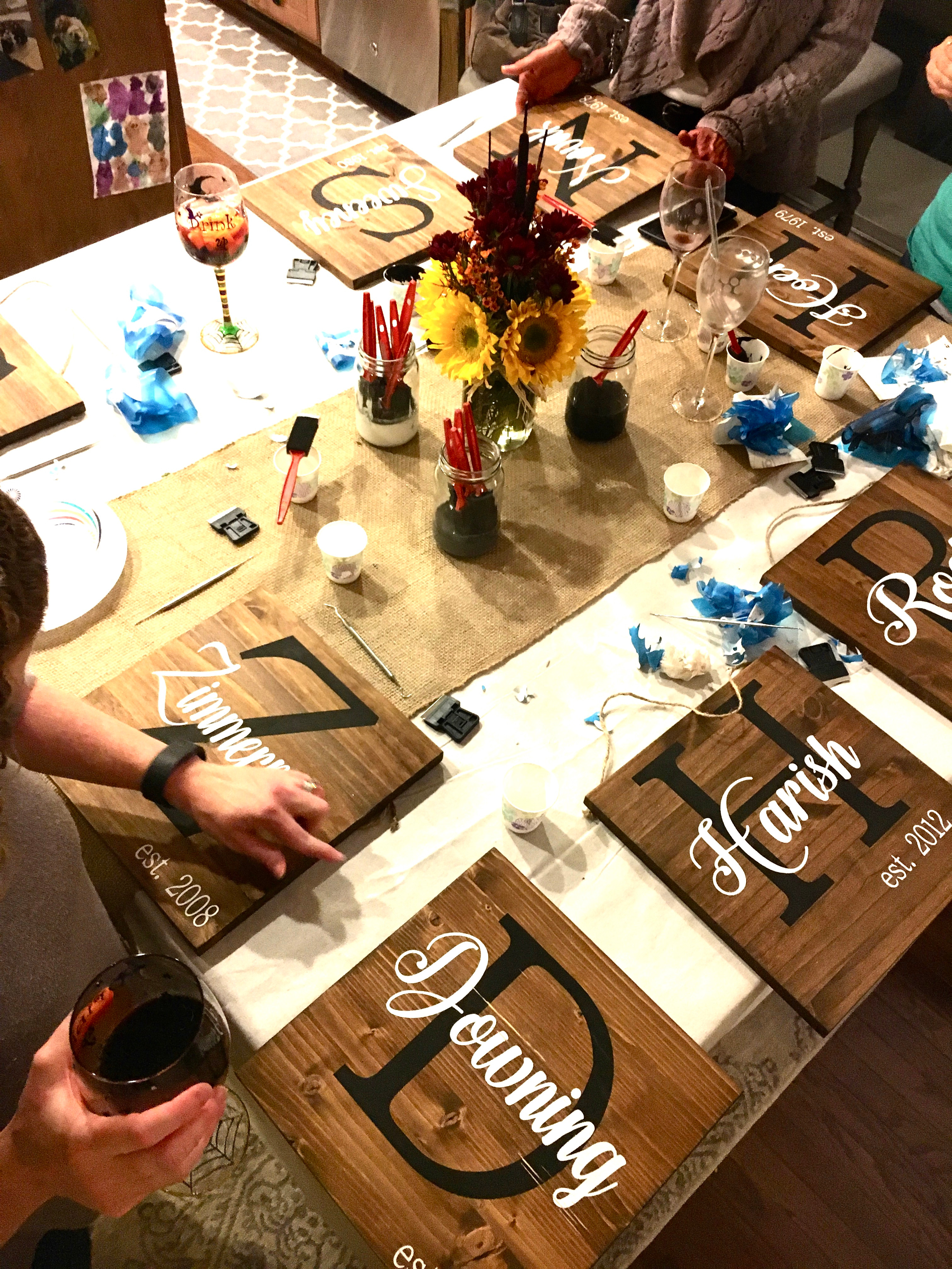 Wood and Wine Party