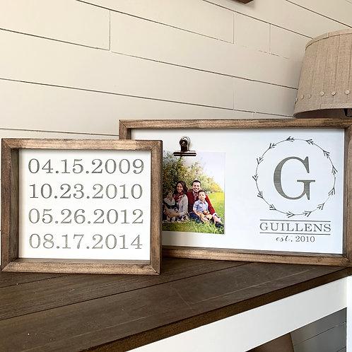 Set of Photo Holders- 12x20 & 10x12