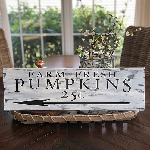 Farm Fresh Pumpkins 8x24