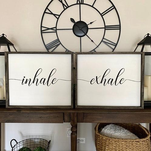Inhale, Exhale 20x24- 2 Piece Set