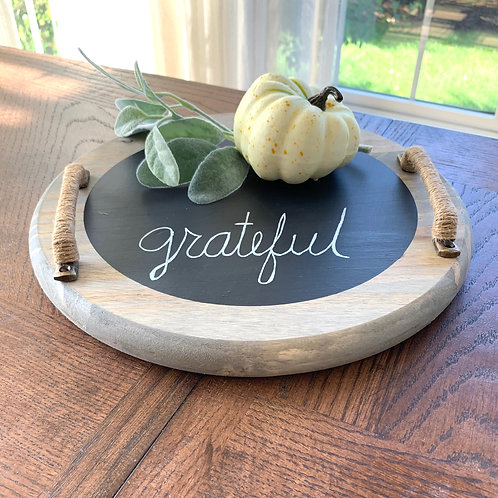 Chalkboard Serving Tray- 12""