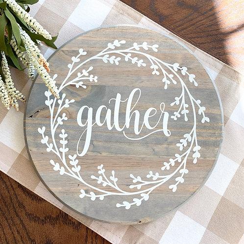 """Round Gather - 12"""""""